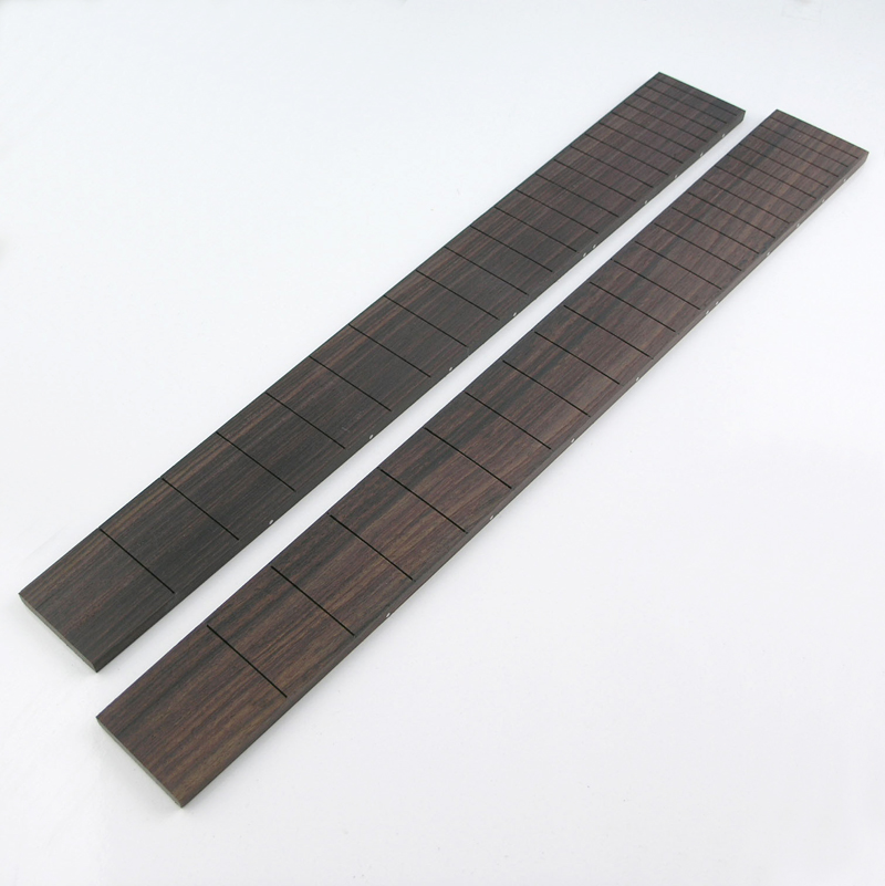 FB14 Rosewood Preslotted 22 Fret Blank Flat Fingerboard. Long and Short Scale