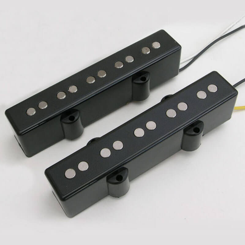 P38 Five String Black J-Style Bass Pickup Set