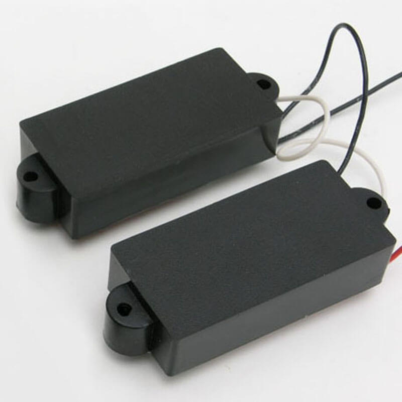 P39 Black Covered P-Style Bass Style Pickup Set
