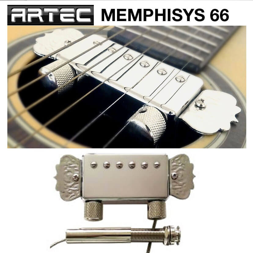 P66 NEW Artec MEMPHISYS 66  Humbucker soundhole pickup