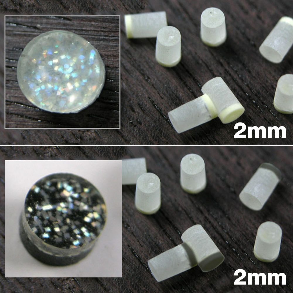FB15 Acrylic Plastic Sparkle Dot Neck Inlays 2mm.
