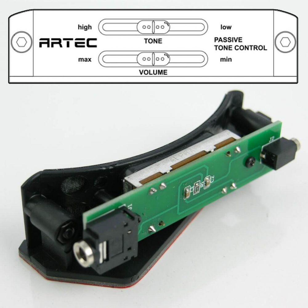 E44 New Artec SHP2 EQ Soundhole Passive Controller