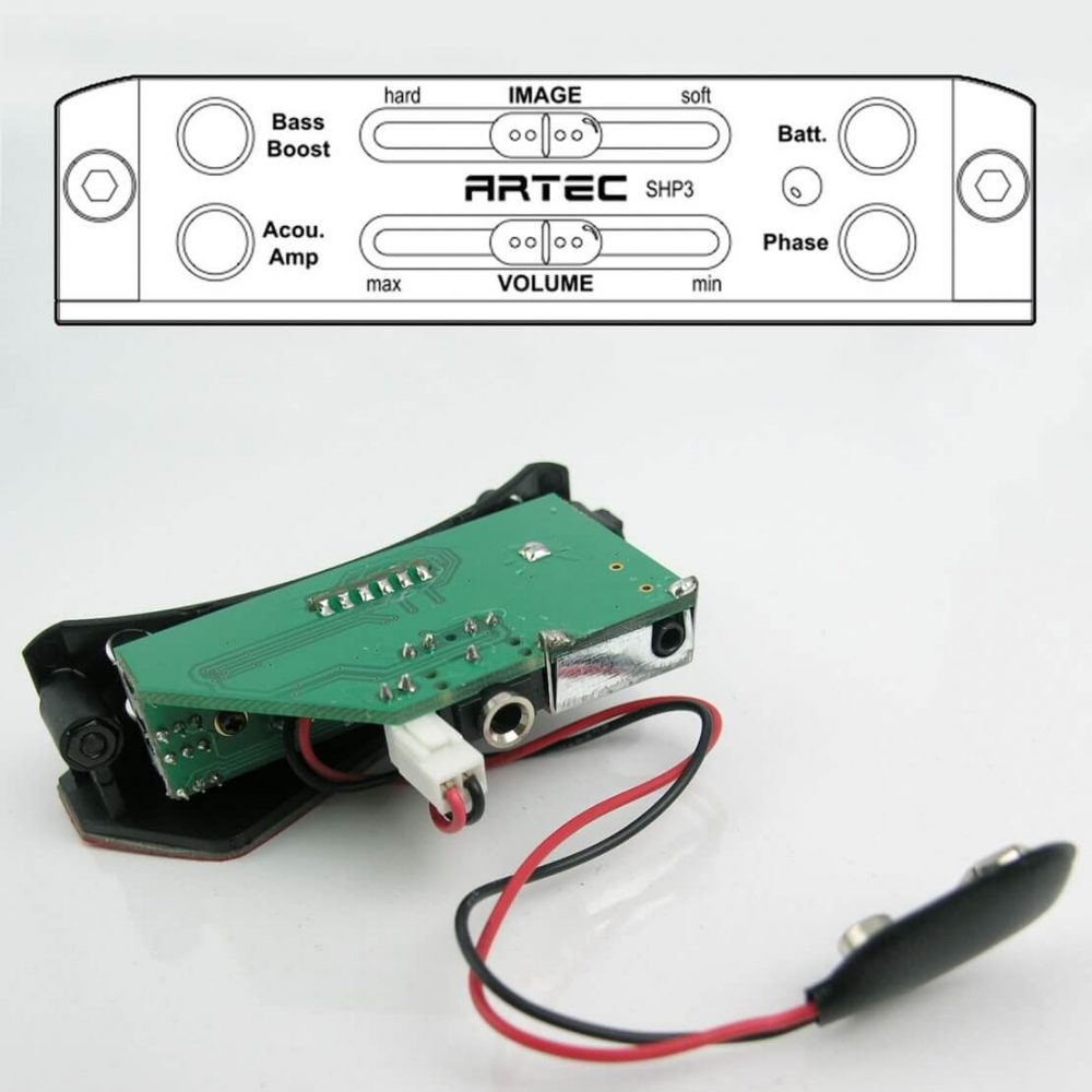 E45 New Artec SHP3 EQ Soundhole Pre amp Controller