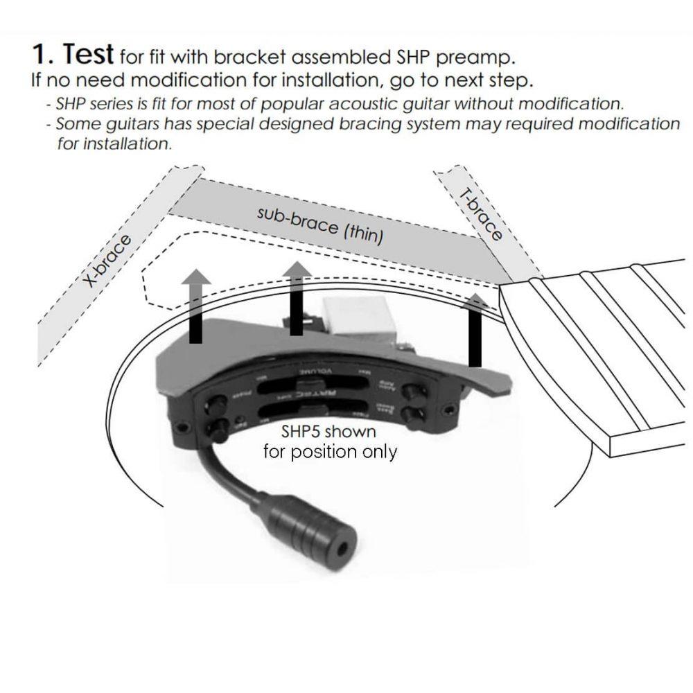 E46 New Artec SHP5 EQ Soundhole Pre amp Controller & mic blender