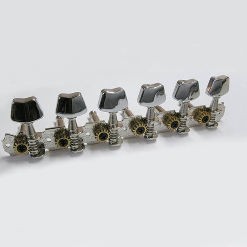 No22 Six In Line Modern Chrome Guitar Tuners