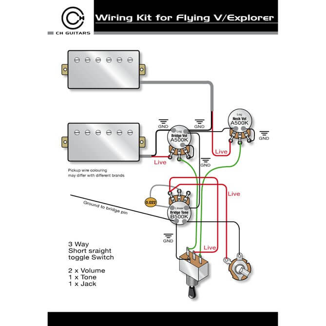 WK9 Flying V / Explorer Wiring Kit