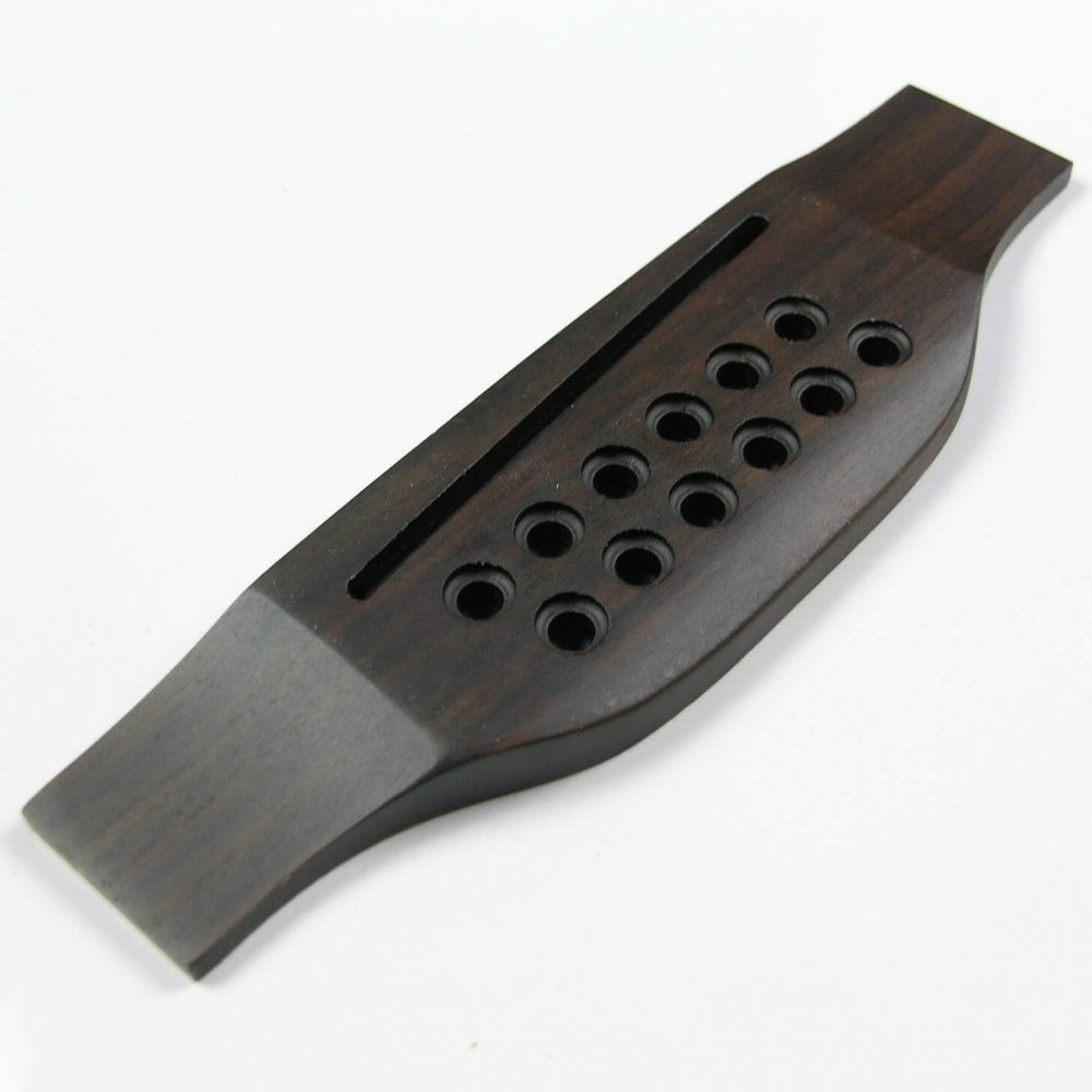 B73 12 string Rosewood Acoustic Guitar Bridge (Copy)