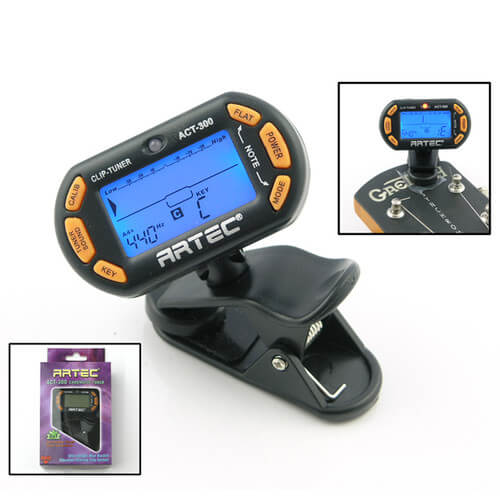 DT1 Artec ACT-300 clip-on Digital Tuner