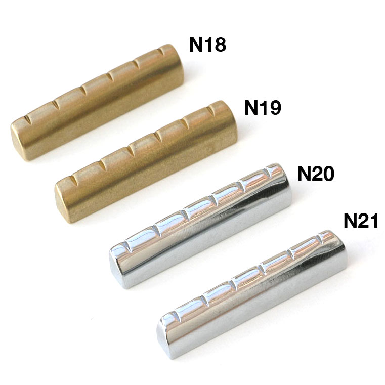 N18 Six String Brass Or Chrome Guitar Nut