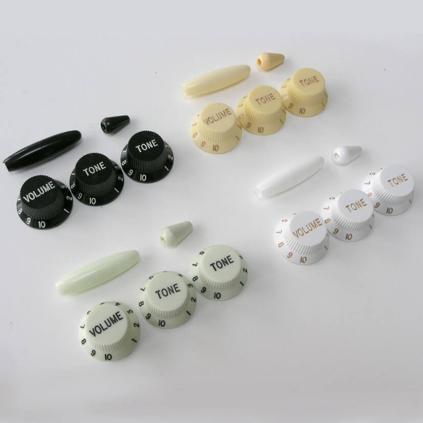 K22 S Style Knobs, Tremolo Tip And Switch Cap Set