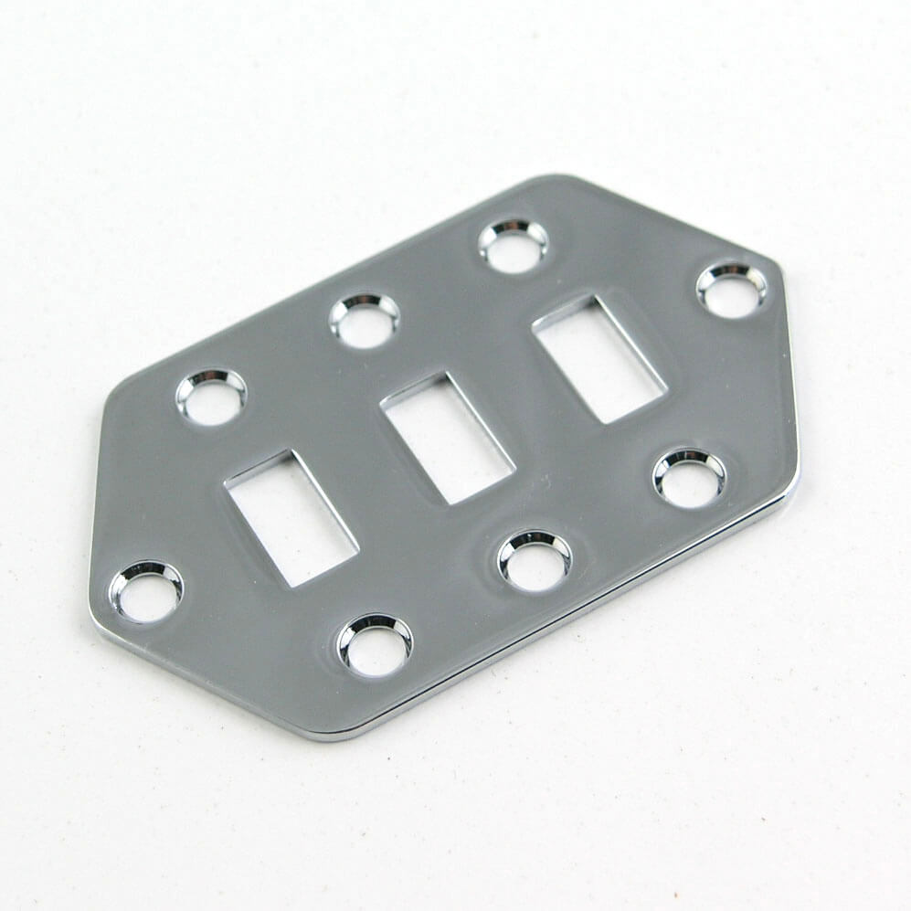 M26 Chrome Switch Plate for Jag Style Guitars