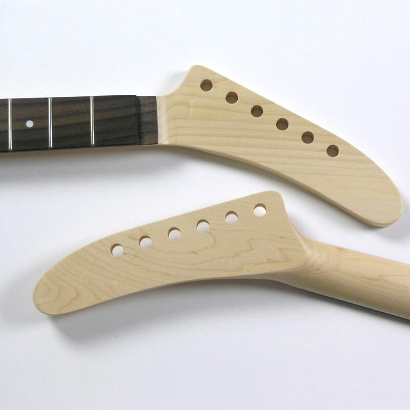 NK2 Floyd nut Maple/Rose 22 Fret Banana Guitar Neck