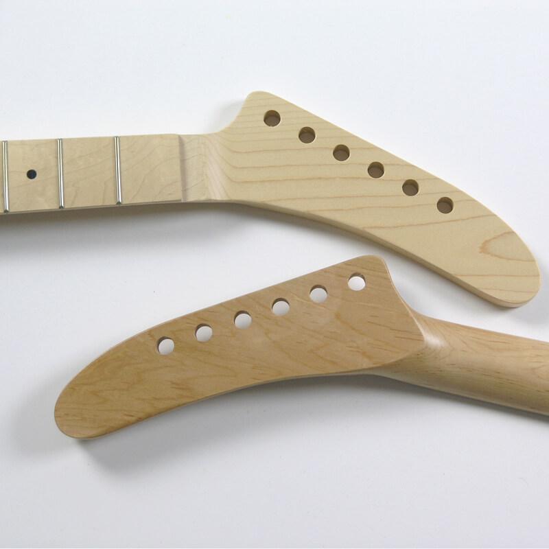 NK4 Floyd nut Maple/Maple 22 Fret Banana Guitar Neck