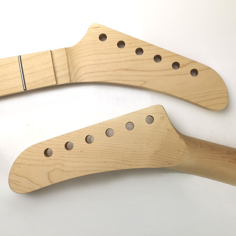 NK4 Floyd nut Maple/Maple 22 Fret Banana Guitar Neck
