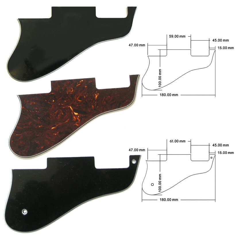 PG21 ES 335 3-ply scratch plate guitar pick guard