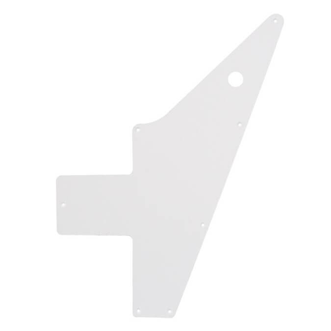 PG22 Explorer 1 ply white scratch plate guitar pick guard