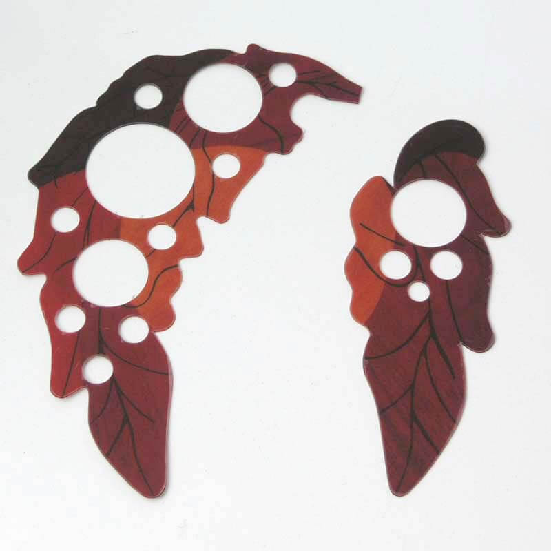 PG27 Set of Self adhesive acoustic Guitar Pickguard Grape Leaf ovation style Sound Hole Covers