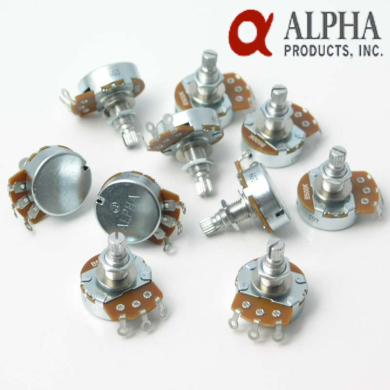 10 x A or B Full Size Alpha Vol/Tone control pot Potentiometer 18mms (Copy)