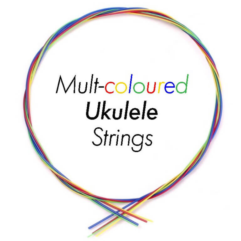STR14 Multi-Coloured flurocarbon Ukulele string set
