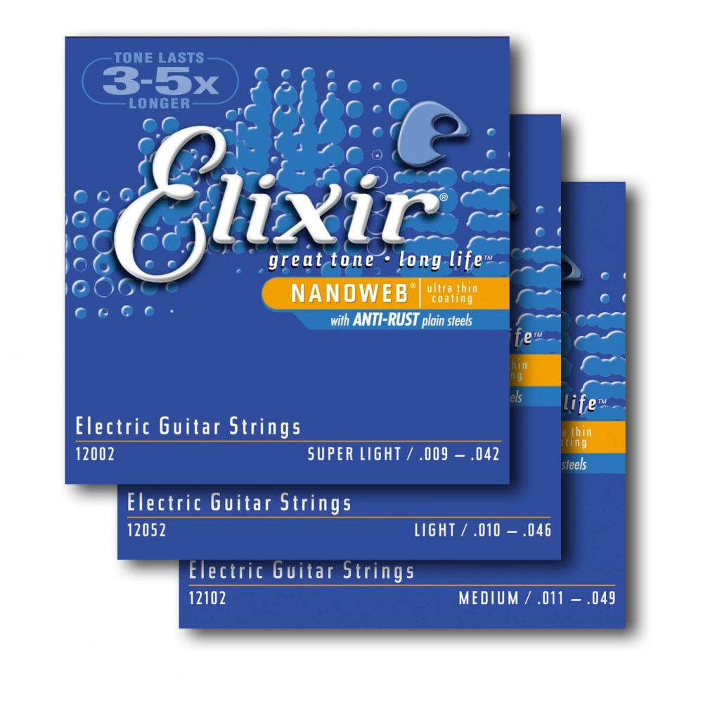 Elixir Nanoweb Nickel Wound Anti-Rust Electric Guitar Strings