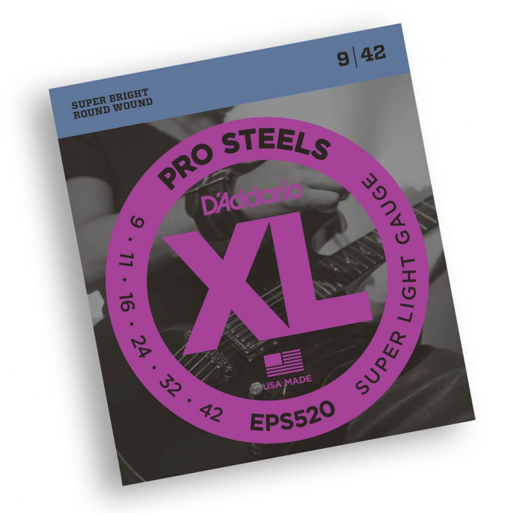 STR8 D'Addario EPS520 ProSteels Guitar strings 09-42
