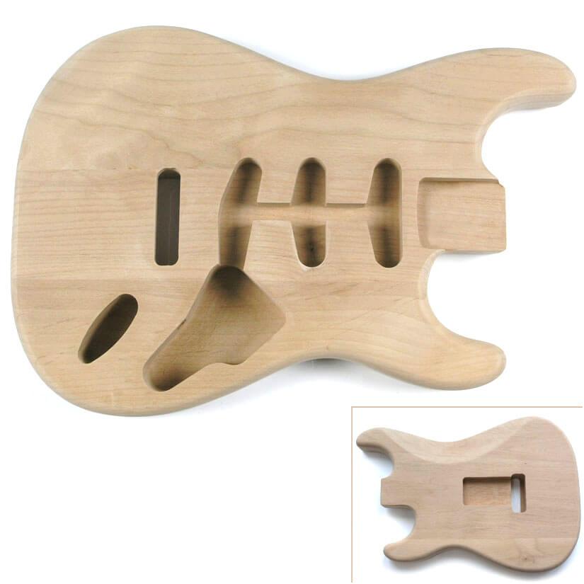 STAL Alder Trem Route S Style Guitar Body
