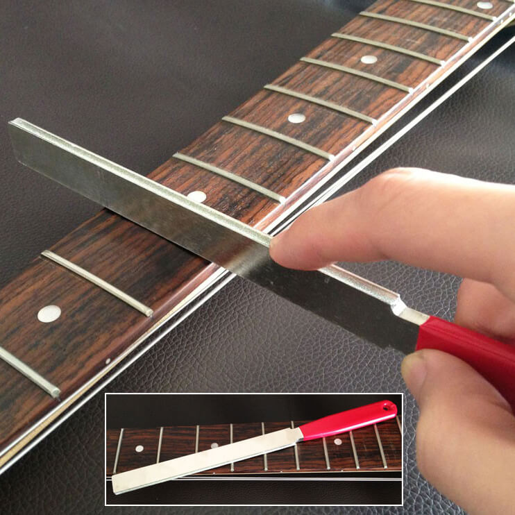 TO34 Dual Width Diamond Crowning Fret File 150 grit