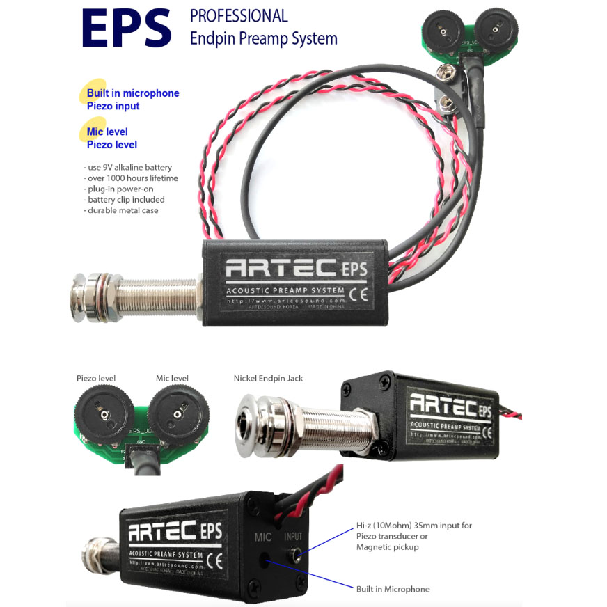 E76 Artec EPS Acoustic preamp system, piezo and mic controls